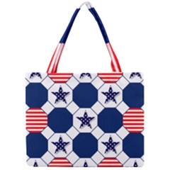 Patriotic Symbolic Red White Blue Mini Tote Bag