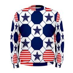 Patriotic Symbolic Red White Blue Men s Sweatshirt