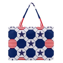 Patriotic Symbolic Red White Blue Medium Tote Bag