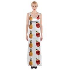Ppap Pen Pineapple Apple Pen Maxi Thigh Split Dress