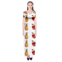 Ppap Pen Pineapple Apple Pen Short Sleeve Maxi Dress