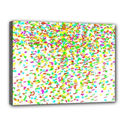 Confetti Celebration Party Colorful Canvas 16  x 12