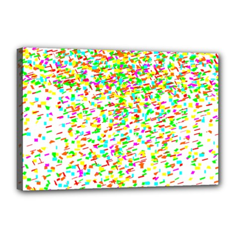 Confetti Celebration Party Colorful Canvas 18  x 12