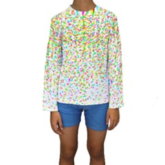 Confetti Celebration Party Colorful Kids  Long Sleeve Swimwear