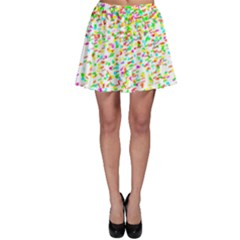Confetti Celebration Party Colorful Skater Skirt