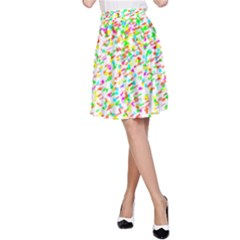 Confetti Celebration Party Colorful A-Line Skirt