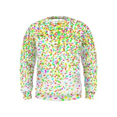 Confetti Celebration Party Colorful Kids  Sweatshirt