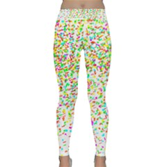 Confetti Celebration Party Colorful Classic Yoga Leggings