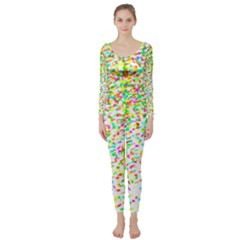 Confetti Celebration Party Colorful Long Sleeve Catsuit