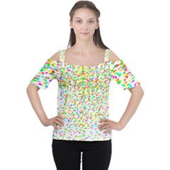 Confetti Celebration Party Colorful Women s Cutout Shoulder Tee