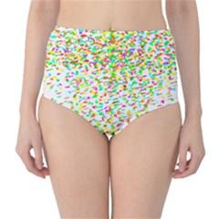 Confetti Celebration Party Colorful High-Waist Bikini Bottoms