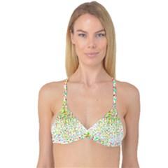 Confetti Celebration Party Colorful Reversible Tri Bikini Top