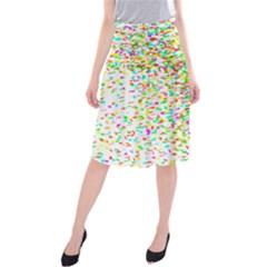 Confetti Celebration Party Colorful Midi Beach Skirt