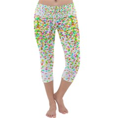 Confetti Celebration Party Colorful Capri Yoga Leggings