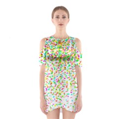 Confetti Celebration Party Colorful Shoulder Cutout One Piece