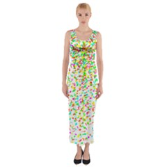 Confetti Celebration Party Colorful Fitted Maxi Dress