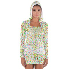 Confetti Celebration Party Colorful Women s Long Sleeve Hooded T-shirt