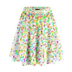 Confetti Celebration Party Colorful High Waist Skirt