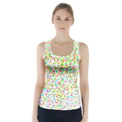 Confetti Celebration Party Colorful Racer Back Sports Top