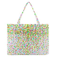 Confetti Celebration Party Colorful Medium Zipper Tote Bag