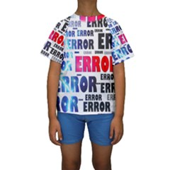 Error Crash Problem Failure Kids  Short Sleeve Swimwear