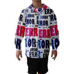 Error Crash Problem Failure Hooded Wind Breaker (Kids)