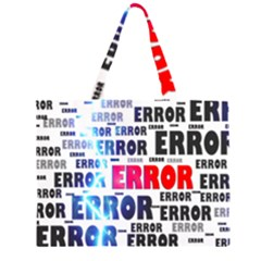 Error Crash Problem Failure Zipper Large Tote Bag
