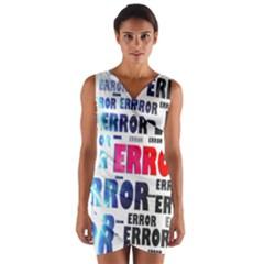 Error Crash Problem Failure Wrap Front Bodycon Dress