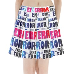 Error Crash Problem Failure Pleated Mini Skirt