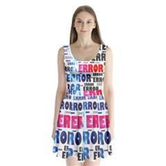 Error Crash Problem Failure Split Back Mini Dress