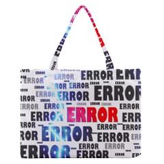 Error Crash Problem Failure Medium Zipper Tote Bag