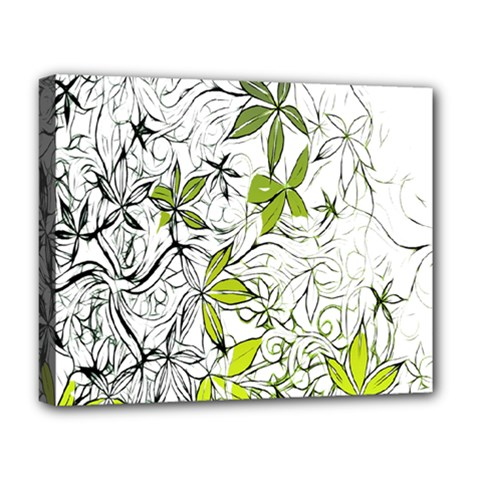 Floral Pattern Background Deluxe Canvas 20  x 16