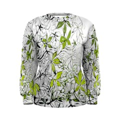 Floral Pattern Background Women s Sweatshirt