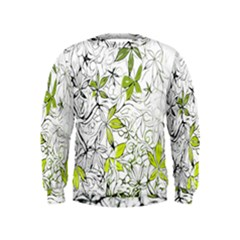 Floral Pattern Background Kids  Sweatshirt