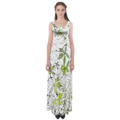 Floral Pattern Background Empire Waist Maxi Dress