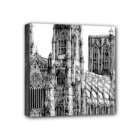 York Cathedral Vector Clipart Mini Canvas 4  x 4