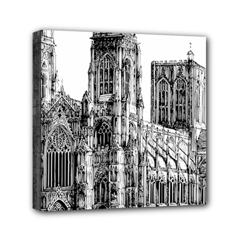 York Cathedral Vector Clipart Mini Canvas 6  x 6
