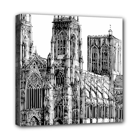 York Cathedral Vector Clipart Mini Canvas 8  x 8