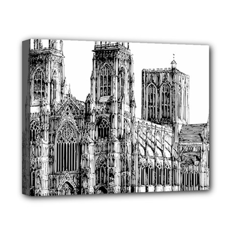 York Cathedral Vector Clipart Canvas 10  x 8