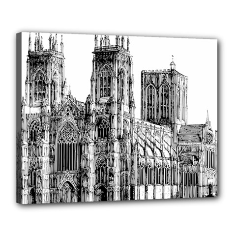 York Cathedral Vector Clipart Canvas 20  x 16