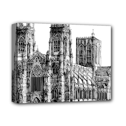 York Cathedral Vector Clipart Deluxe Canvas 14  x 11