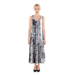 York Cathedral Vector Clipart Sleeveless Maxi Dress