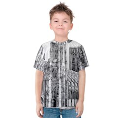 York Cathedral Vector Clipart Kids  Cotton Tee