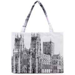 York Cathedral Vector Clipart Mini Tote Bag
