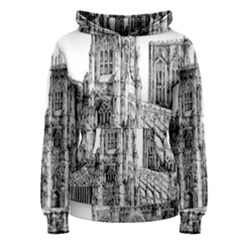 York Cathedral Vector Clipart Women s Pullover Hoodie