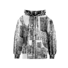 York Cathedral Vector Clipart Kids  Zipper Hoodie