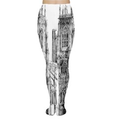 York Cathedral Vector Clipart Women s Tights