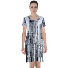 York Cathedral Vector Clipart Short Sleeve Nightdress