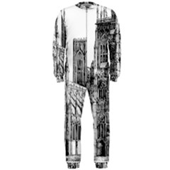 York Cathedral Vector Clipart OnePiece Jumpsuit (Men)