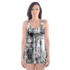 York Cathedral Vector Clipart Skater Dress Swimsuit